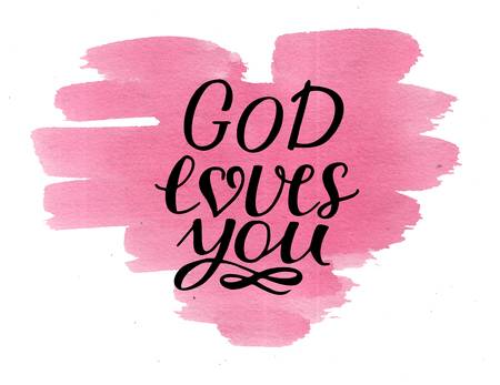 100220793-hand-lettering-god-loves-you-on-watercolor-background-biblical-background-christian-poster-card-mode